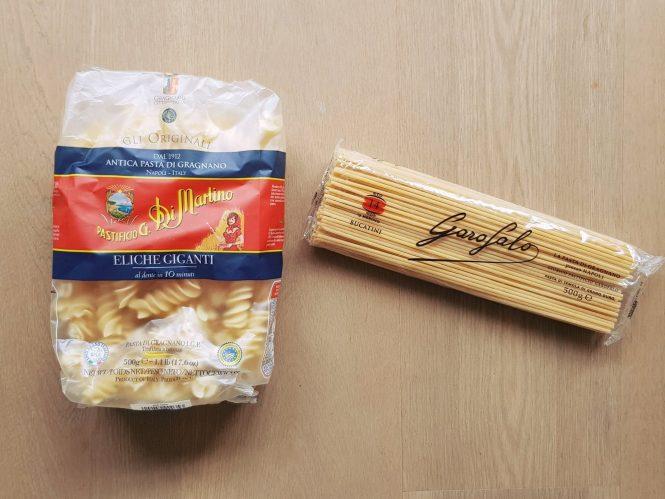 Kwalitatieve pastasoorten