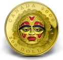 Canadian-300-Native-American-Summer-Moon-Mask-gold-coin