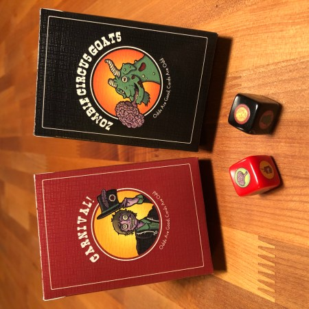 zombie circus goats decks and dice