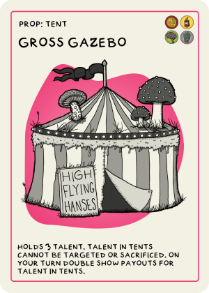 zombie circus goats gross gazebo card