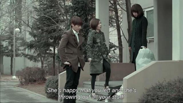 Yoon Sung Sook - She's happy that you left and she's throwing out all your stuff