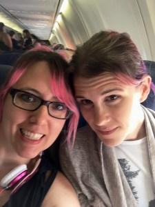 Me & Tanya on the plane