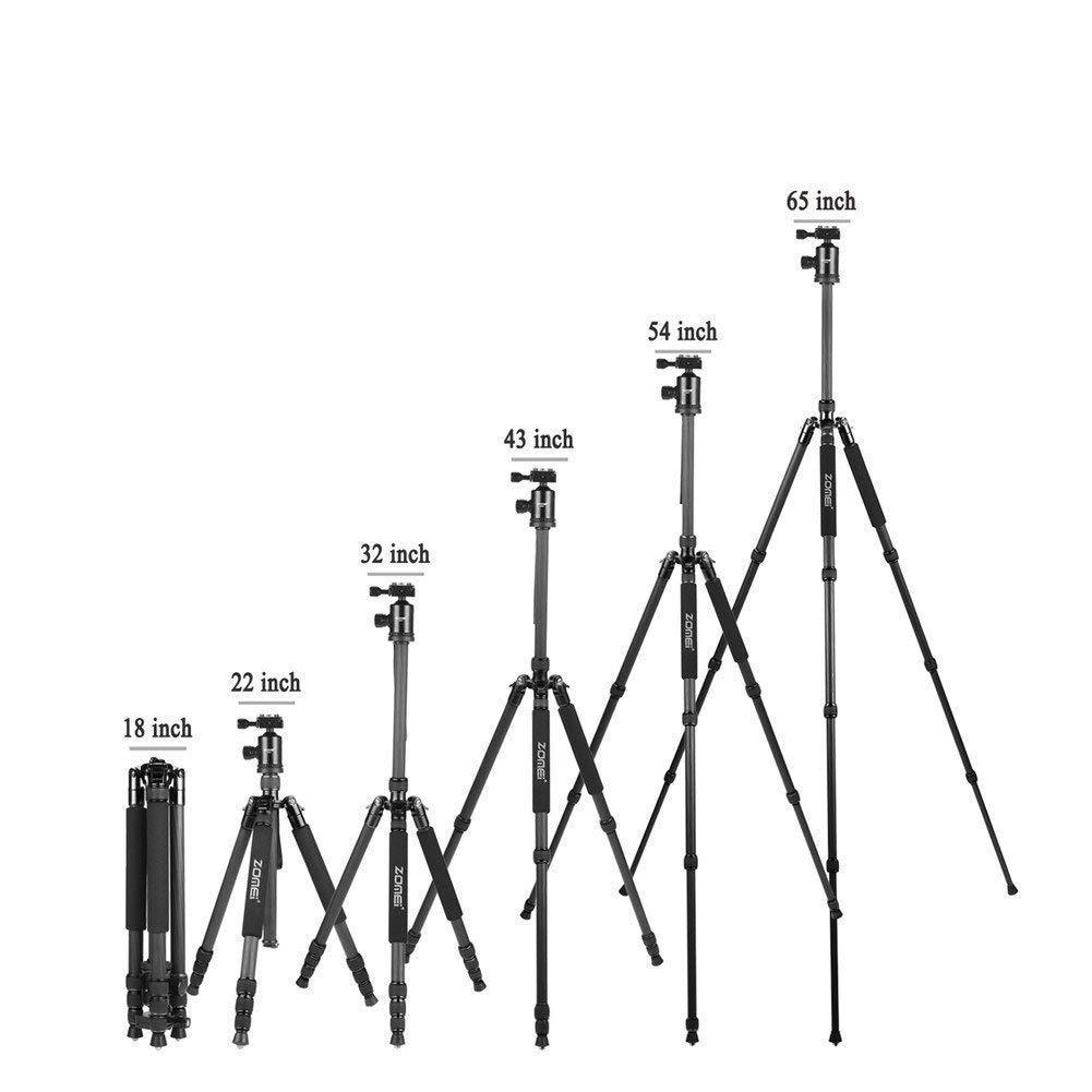 ZOMEi Z818C /888C Carbon Fiber Camera Tripods for Digital