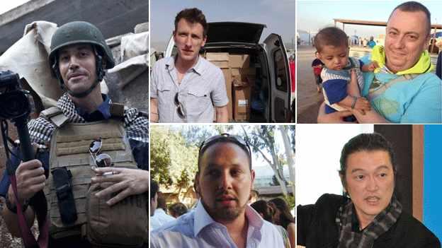 IS te thahlup athuak James Foley, Abdul-Rahman (Peter) Kassig, Alan Henning, Kenji Goto, Steven Sotloff
