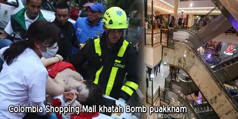 Colombia gamsung aom Shopping Mall khatah Bomb puakkham in mi 3 si, 9 liam