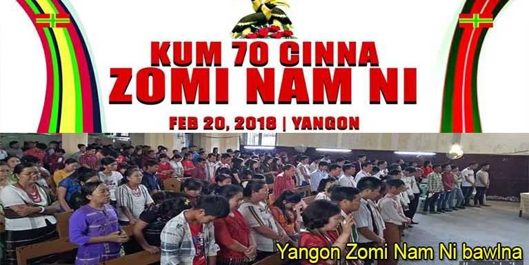 Yangon ah Zomi Nam Ni nuamtak kibawlthei