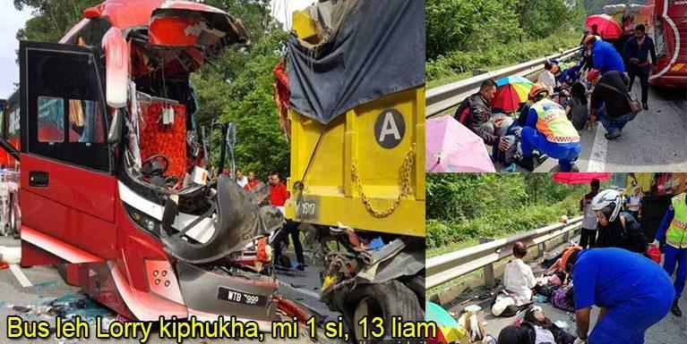 Malaysia, Karak – Kuala Lumpur lamzikpi tungah mawtawpi 2 kiphukha, mi 1 si in 13 liam