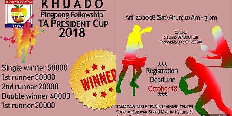 Khuado Pingpong Fellowship TA President Cup 2018