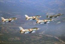 F-16I de la IDF AF junto a un F-16C de la HAF durante maniobras conjuntas.