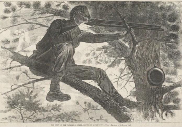 Tirador selecto durante la guerra civil norteamericana. Por Winslow Homer.