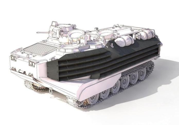 Detalle del kit de blindaje EAAK. Render: Rafael.
