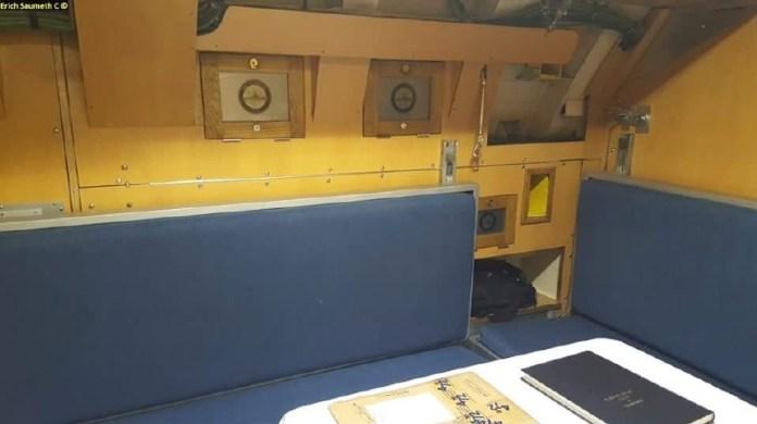 Camarote de oficial en  el U-206 Colombia.