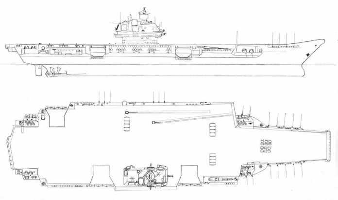 El portaaviones nuclear Ulyanosk.