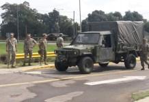 La Armada Argentina instala carpas en el Hospital Municipal Dr. René Favaloro
