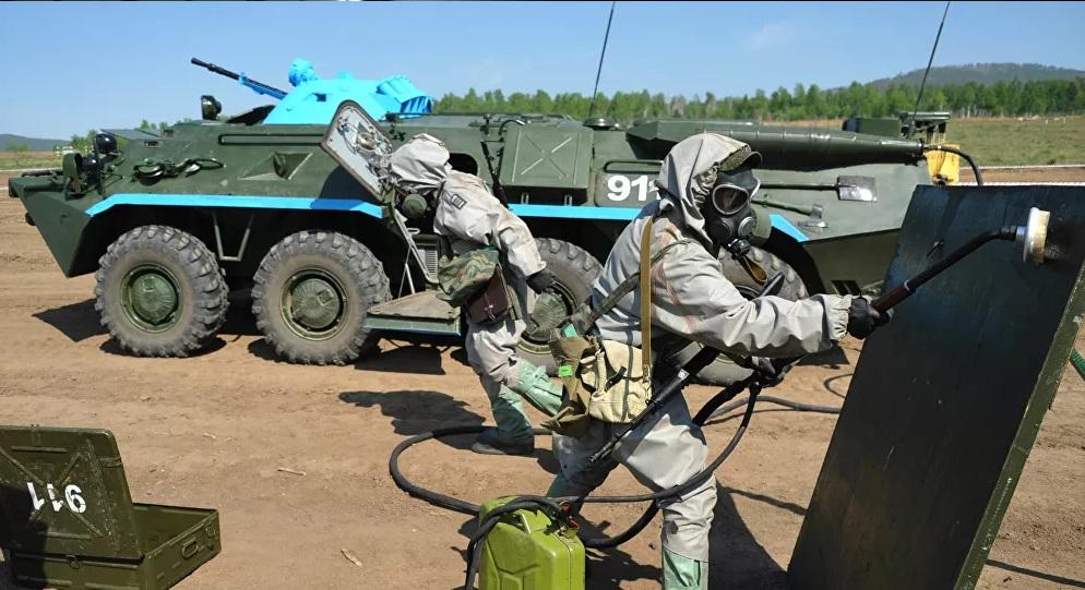 Rusas realiza la capacitación de sus tropas en protección química y biológica