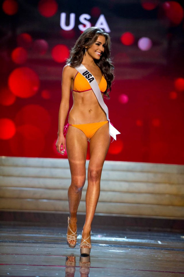 Miss USA Culpo competes during Swimsuit Competition of the 2012 Miss Universe Presentation Show at PH Live in Las Vegas