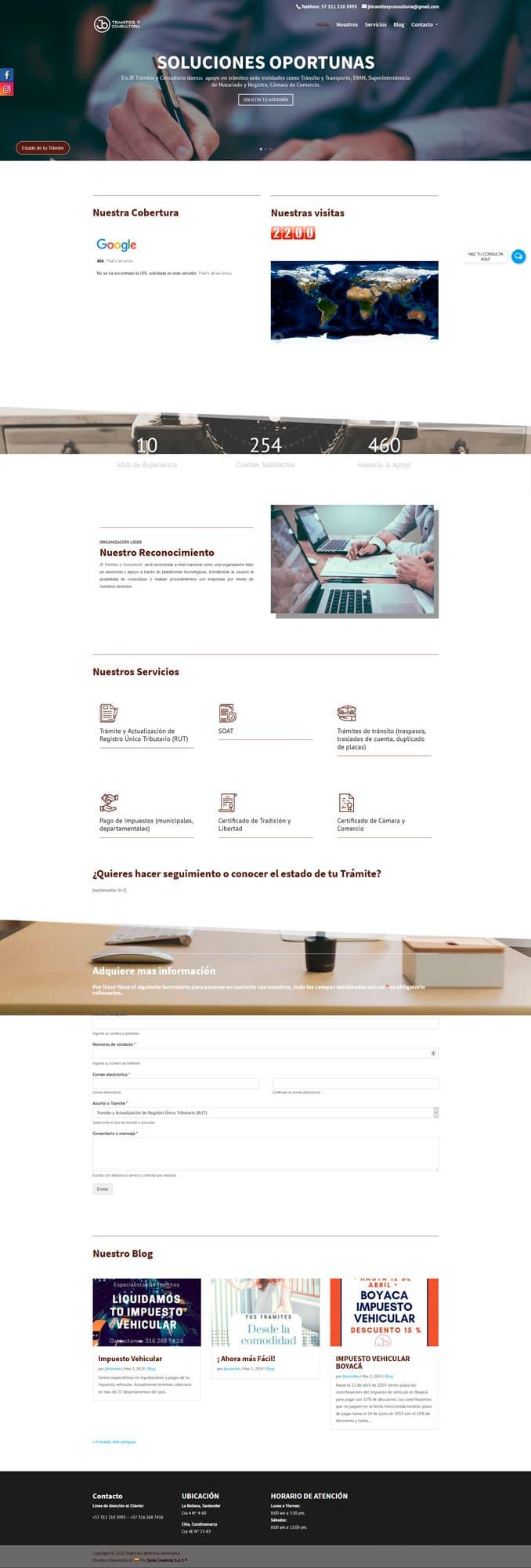 diseño web zona creativos
