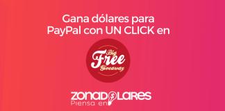 Gana dinero para PayPal con un CLICK en Big Free Giveaway