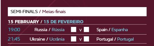 España - Rusia por un puesto en la Final de la Eurocopa