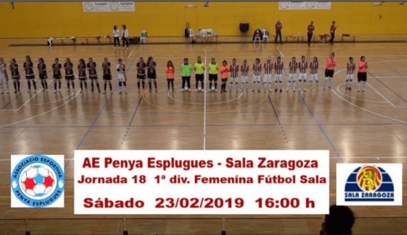 Resumen: AE Penya Esplugues - Sala Zaragoza. Jornada 18
