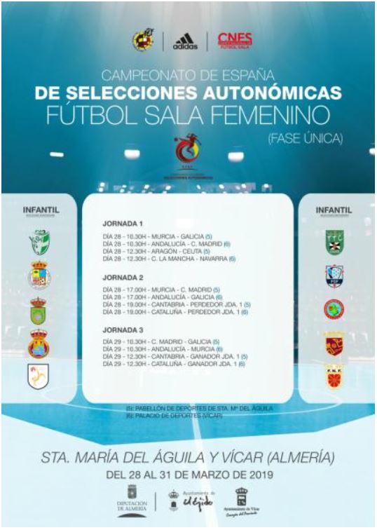 Desde hoy se disputa el Campeonato de España de Fútbol Sala Infantil Femenino en Almería