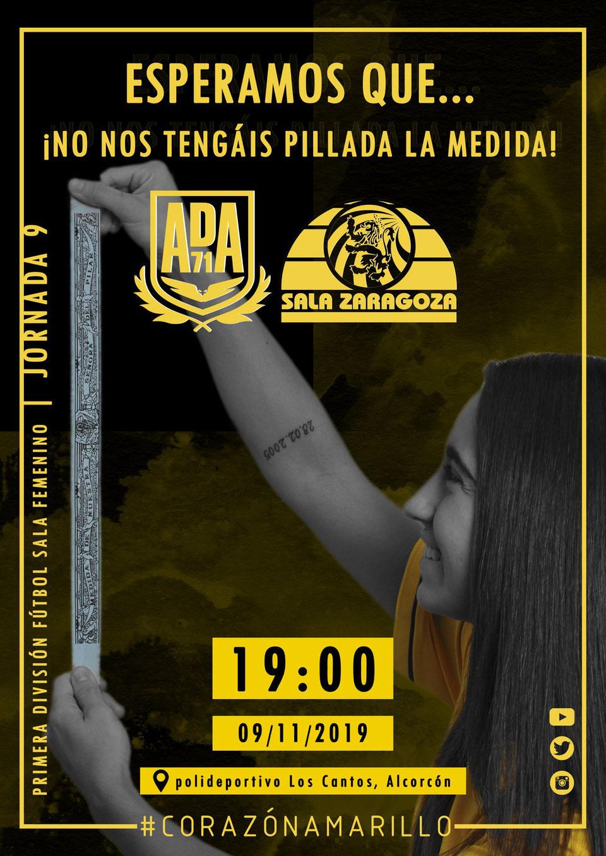 Previa: AD ALcorcón FSF - Sala Zaragoza. 1ª Div. Jornada 9ª