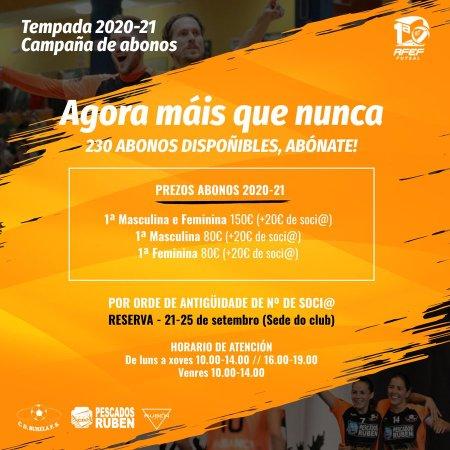 ¡Ahora más que nunca! Campaña de socios 20/21 de Pescados Rubén Burela FS