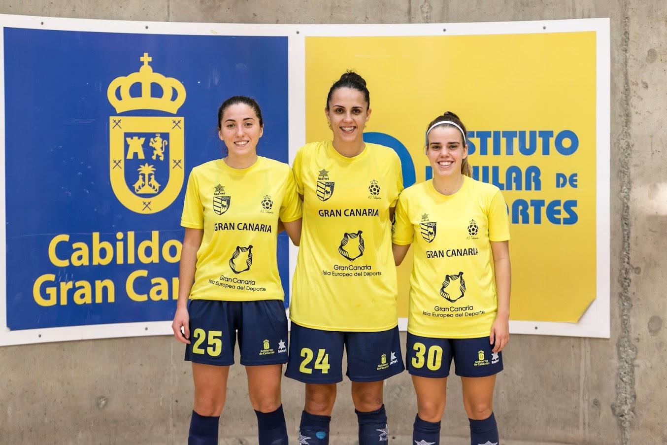 Gema, Andrea y Yaneisy, primeros frutos del filial de Gran Canaria Teldeportivo