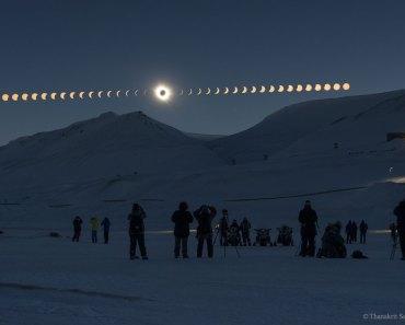 Eclipse total de Sol sobre Svalbard