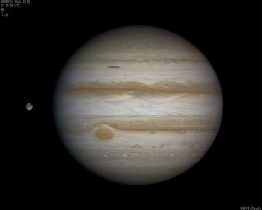 Júpiter, Ganímedes y la Gran Mancha Roja
