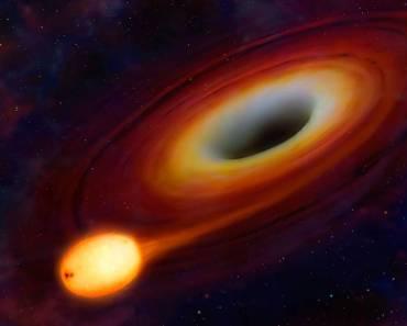 Un agujero negro tritura una estrella
