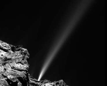 Un chorro repentino en el cometa 67P