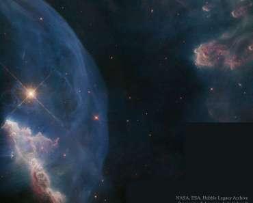Primer plano de la nebulosa de la Burbuja