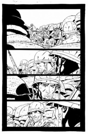 Punisher Platoon Preview B&W 2