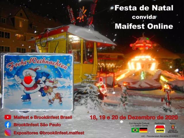 Festa de Natal convida Maifest online
