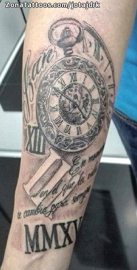 Tatuaje De Relojes Números Romanos