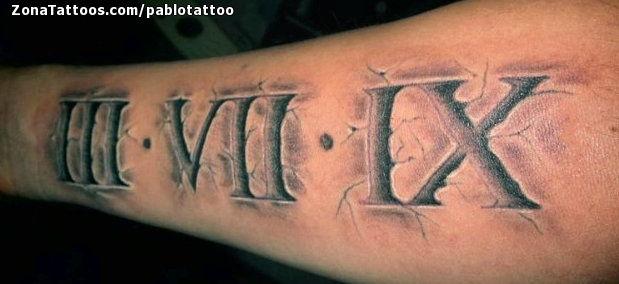Tatuaje De Números Romanos Grietas