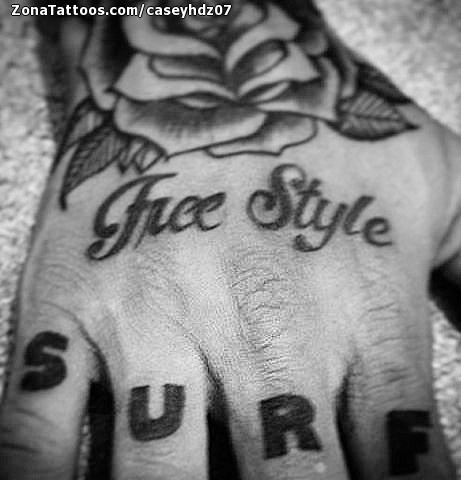 Tatuaje De Dedos Letras Mano