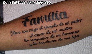 Tatuaje De Familia Frases Letras
