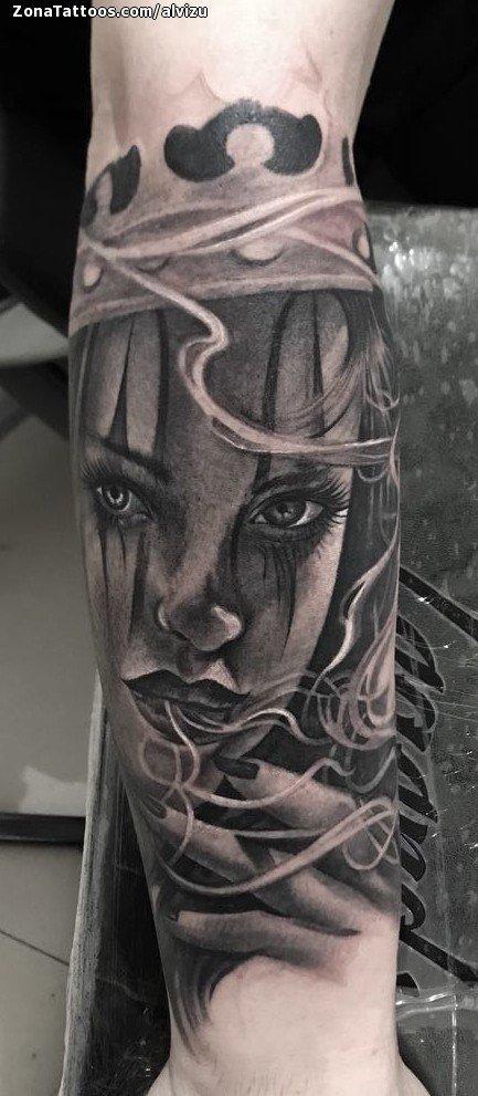 Tatuaje De Payasas Chicanas Brazo