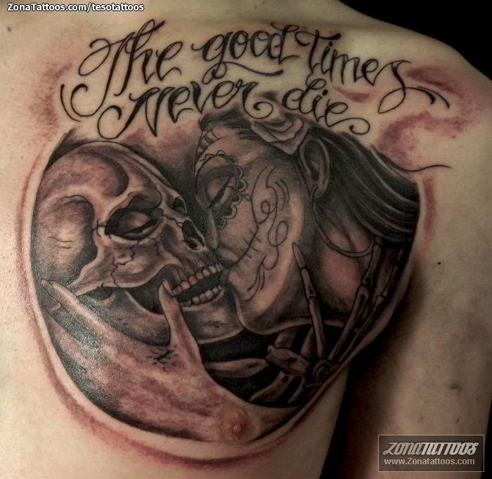 Tattoo Of Skulls Catrina Chest