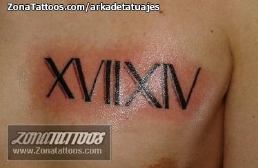 Tatuaje De Números Romanos Pecho