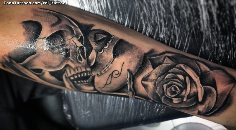 Tattoo Of Skulls Catrina Roses