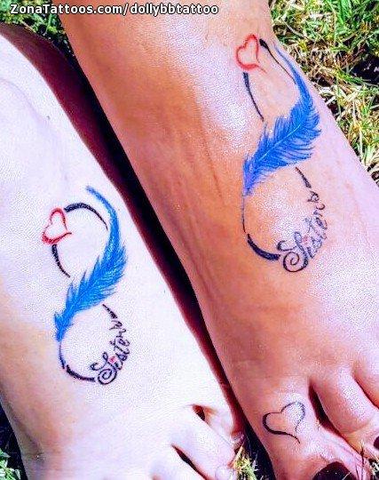 Tatuaje De Plumas Infinitos Parejas