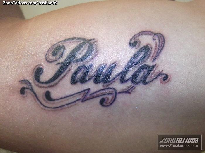 Tatuajes Y Diseños Del Nombre Paula Zonatattoos