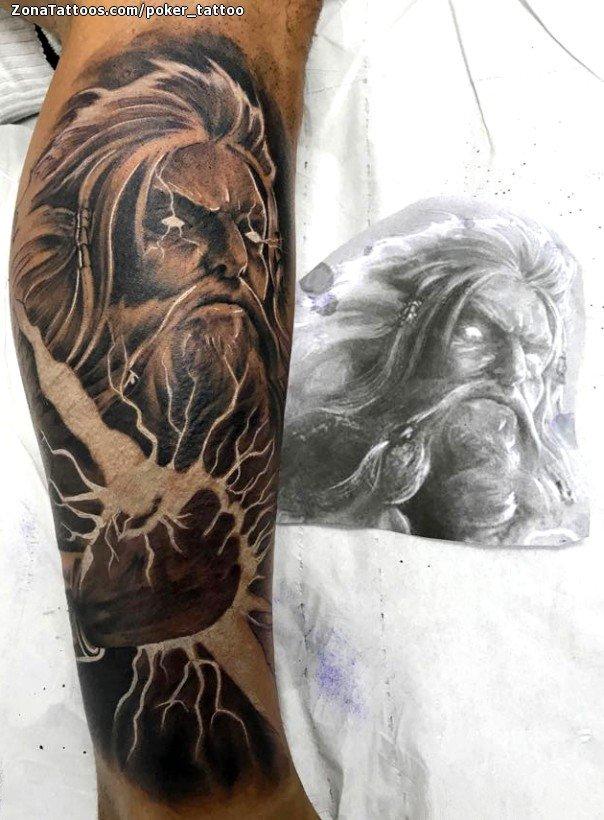 Tatuaje De Zeus Dioses Mitología