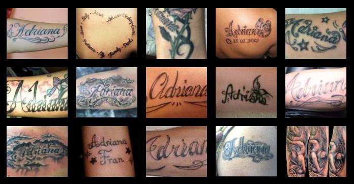 Tatuajes Y Diseños Del Nombre Adriana Zonatattoos