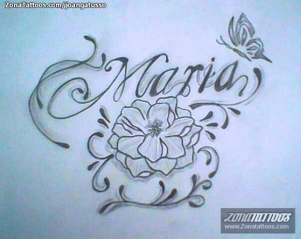 Tatuajes Y Diseños Del Nombre María