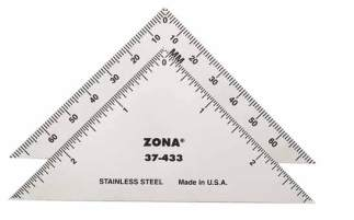 "37 433 - 3"" Triangle Ruler 37-433  3"" Triangle Ruler 37-433 - hobby-knives-blades-and-mini-steel-rulers, hand-tools"
