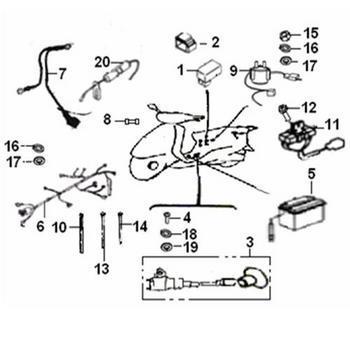 Schéma electrique scooter keeway